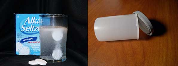 alka seltzer and water experiment