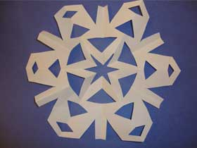 hexagon shaped snowflake