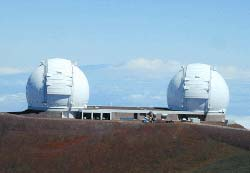 Keck Observatory in Hawaii
