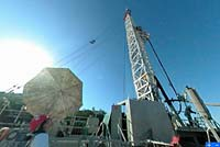 The rig that drilled the pilot hole in the SAFOD project (image courtesy of U. S. Geological Survey)