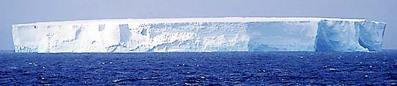 Iceberg formed when a part of the ice shelf broke off.