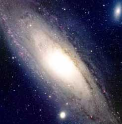 The Andromeda galaxy, similar to our own Milky Way. (image credit: NRAO/NSF)