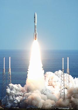 The launch of the New Horizons spacecraft, which will arrive at Pluto in 2015.