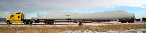 Trucks capable of transporting wind turbine blades