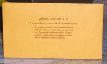 Motion sickness bags