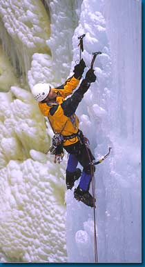 Steve Giddings on vertical ice.