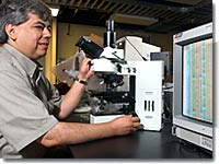 Carlos Gutierrez in his lab.