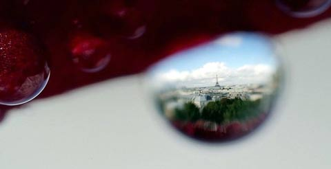 Paris through a Water Drop. Click for a larger image