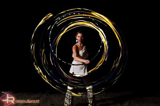 hoops with fire
