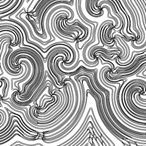 Belousov-Zhabotinsky reactions create weird colorful, geometric spirals; this coloring page lets you pick your own!