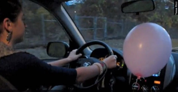 Home Experiment: Balloon in a Car<br> What happens to a helium balloon in a moving car? The results may surprise you.