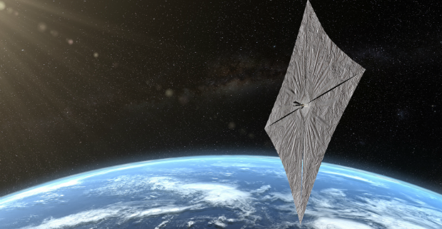 LightSail 2 above earth