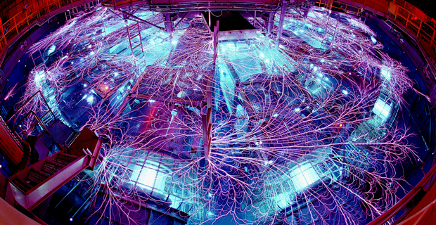 Meet the Z Machine <br />The Z Machine was designed to help explore the physics behind nuclear fusion—the world's most powerful weapons technology, and hopefully the clean energy source of the future.